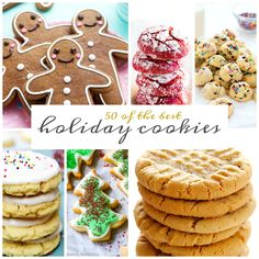 50 of the Best Holiday Cookies that need to be devoured. From classics to cookies your grandma has never even heard of. Bake up a batch or five and start spreading your holiday {cookie} cheer. While all the other desserts of cakes, pies and fudge are nice and all, cookies are the best way to …