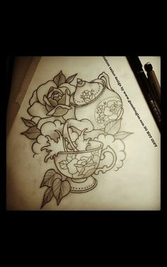 Tea tattoo. I like the style of roses