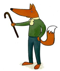 Mar 7th - Monsieur Fox challenges you to a stick fight.  Doodle by QueenHare for the Design A Day Project