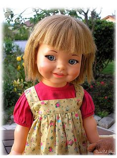 Ideal Doll Giggles Hard Plastic