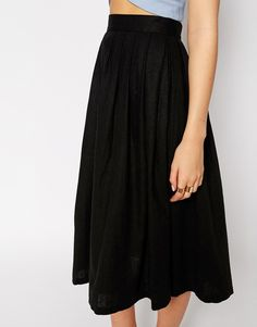 /// ASOS Pleated Midi Linen Skirt, $50