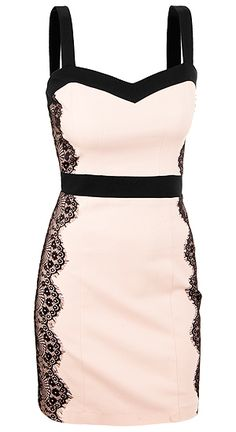 baby pink and black lace
