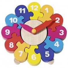Ekobutiks® l ma boutique écologique | Jouets en Bois | Jouets d'apprentissage | Montessori | Jouets Goki | Jouet en bois Horloge Puzzle Goki