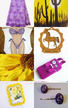 This lovely purple and yellow mixture of PTP team