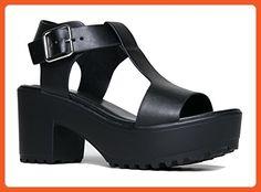 f9dd4bfbb7e ZooShoo J. Adams Corby Platform Slip On Sandal - Low Heel T-Strap - Peep  Toe Fashion Wedge Flatform Ankle Strap - Now Fashion Shop