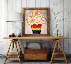 Gay Pride Painting LGBTQ Pride LGBT Rainbow Decor image 0 Small Canvas Paintings, Unique Paintings, Colorful Paintings, Original Paintings, Living Room Cushions, Living Room Decor, Rainbow Decorations, Floral Pillows, Alternative Wedding