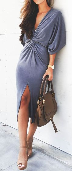 Wrap style dress.