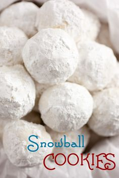 Snowball Cookies - perfect for winter and Christmas. These cookies melt in your mouth!!