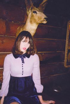 Purple Velvet Peter Pan Collar Dress – The Loved One