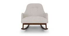 Embrace Coconut White Rocking Chair - Lounge Chairs - Article | Modern, Mid-Century and Scandinavian Furniture