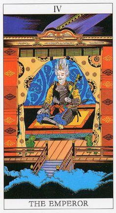 Love and Mystery Tarot by Yoshitaka Amano: The Emperor