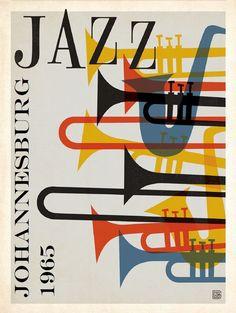 Johannesburg Jazz 1965 Mid-Century Modern Poster