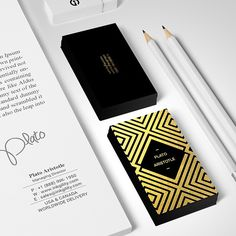 Black & Gold #BusinessCard from @inkgility