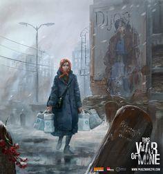 Cold days, Pawel Kaczmarczyk on ArtStation at https://www.artstation.com/artwork/VVRob