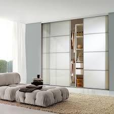 Sliding Door - 4 Panel White Glass with Silver Frame Sliding Wardrobe Doors Uk, Built In Wardrobe, Sliding Doors, Modular Furniture, Home Furniture, Furniture Design, Bedroom Furniture, New Door Design, Modular Wardrobes
