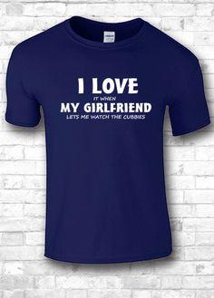 Boyfriend shirt I love my girlfriend I love by FourSeasonsTshirt