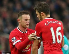 Michael Carrick (right) will take over the Manchester United vice captaincy behind Wayne R...