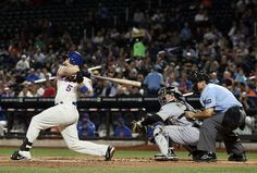 David Wright gets his 1,419th hit as a Met, setting the all-time franchise record, during Wednesday's game against the Pirates. New York defeated Pittsburgh 6-0 behind seven strong innings from Jeremy Hefner. (Alex Trautwig/Getty Images)