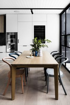 gradient chairs, neutral space