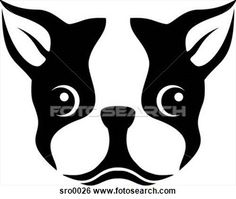 Stock Illustration - A stencil of a Boston terrier dog. Fotosearch - Search Clip Art, Drawings, Fine Art Prints, Illustrations, and Vector EPS Graphics Images