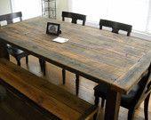 Love old family style farm tables!!