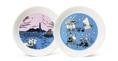 Collector's edition plate Night Sailing & Peace - The Official Moomin Shop Moomin Mugs, Tove Jansson, The Collector, Original Artwork, Sailing, Decorative Plates, Pottery, Peace