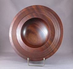 Mahogany Bowl  Hand turned wooden bowl by Deere41h on Etsy, $95.00
