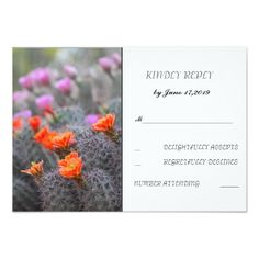 Colors of the desert RSVP Card
