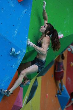ratherbeclimbing: nowhere-except-up: dynothecrux: ninjatengu: Alex Puccio is by far my favorite climber. Crushing it at Rock Master. Badassssss A guy that I work with, primarily a boulderer, didn't know who Alex Puccio was and then proceeded to say that he could probably climb harder than her and I just laughed. Laughed for days. Okay so this picture. Holy shit. But seriously. Puccio skipped leg day…..