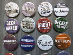 "Shadowrun buttons 1.25"" / 32mm pinback badges"
