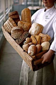 """Pass the bread basket please! Lets fill the cottage up with lots of yummy bread! We """"knead""""lots of bread makers! I can smell the breads baking in the cottage oven! So all we bakers let's """"rise"""" to the occasion! Pan Bread, Bread Baking, Bread Display, Corner Bakery, Bread Shop, Good Food, Yummy Food, Awesome Food, French Bakery"""