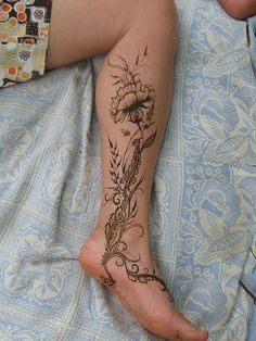 Calf Tattoo, under the foot