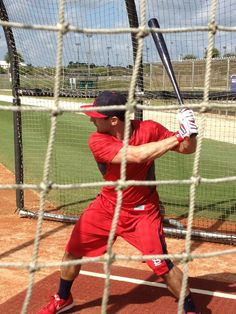 Dirty Dan taking some cuts in the cage.  2-12-13
