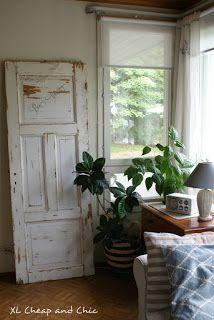 XL Cheap & Chic: Vanha ovi - Old door... Windows, Doors, Chic, Home, Shabby Chic, Elegant, Ad Home, Homes, Haus