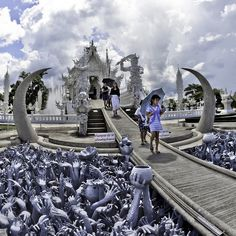 Wat Rong Khun, Chiang Rai, Thailand. My absolute favorite place I visited in Thailand.