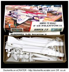Airfix Phantom II 1/72 Scale. Vintage Type 3 / Red Stripe Box Kit. Produced c. 1963-1973.