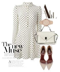 """dress"" by masayuki4499 ❤ liked on Polyvore featuring RED Valentino, Rebecca Minkoff and Burberry"