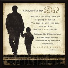 Dear lord thank you for all you do. Thank you for blessing my life with my dad. Please be with him in this time of need and watch over us all in the next few days/weeks/months.