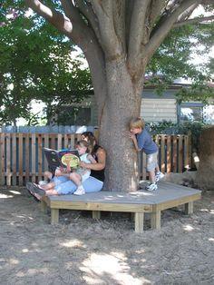 bench around tree