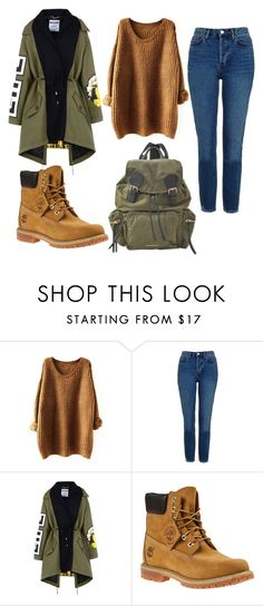 """""""Untitled #493"""" by sikarjazmin on Polyvore featuring Topshop, Moschino, Timberland and Burberry"""