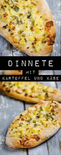 Schwäbische Dinnete mit Kartoffeln und Käse - www.kuechenchaotin.de