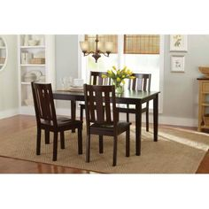 Better Homes And Gardens Bankston 6Piece Dining Set Mocha Interesting Better Homes And Gardens Dining Room Design Inspiration