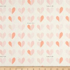 """Art Gallery 58"""" Wide Paperie Happily Ever After from @fabricdotcom  Designed by Amy Sinibaldi for Art Gallery Fabrics, this lovely collection was inspired by the look of paperie paper. This fabric features hearts and is simply lovely with romantic shades of pink. Art Gallery fabric features 200 thread count of finely woven cotton. This fabric is perfect for quilt backing, blouses, dresses and more!"""