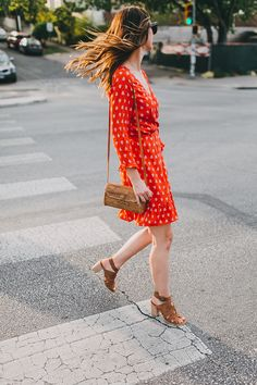 Work To Play: Red Wrap Dress