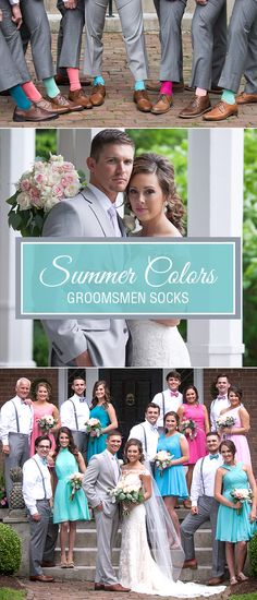 With over 30 solid colors to choose from, we have your perfect matches for fun, colorful summer weddings. Consider using a unique color for each wedding party couple or simplify it with one uniform color. Shop our great selection of groomsmen wedding socks.