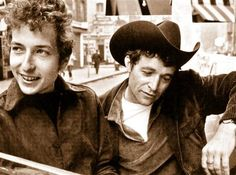 Bob Dylan and Ramblin' Jack Elliot, Greenwich Village, early 60's