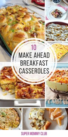 So many yummy breakfast casserole ideas here that are perfect for a crowd!
