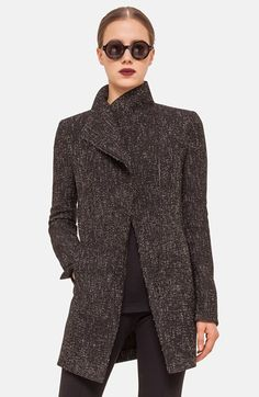Akris punto Asymmetrical Zip Tweed Jacket available at #Nordstrom