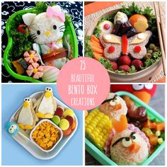 25 Beautiful Bento Box Creations - How cute for lunch boxes - would never be boring!