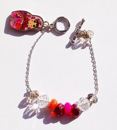 The Dollface CharmsNChains Bracelet by CharmingChainsShop on Etsy, $23.00